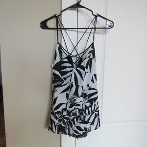 SOLD Express Tropical Printed Lace Up Tank